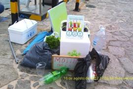 Intervienen 150 kilos de material para la venta ambulante en Punta Galera