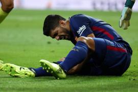 Luis Suárez estará cuatro semanas de baja por una lesión de rodilla