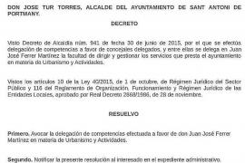 'Cires' deja a Ferrer sin competencias y se agudiza la crisis política en Sant Antoni