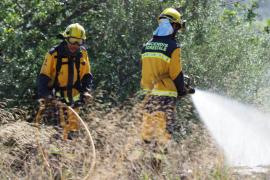 Declarado un incendio agrícola en Can Negre