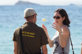 Simulacro de emergencias en la playa de ses Figueretes