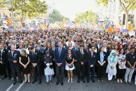 Medio millón de personas entonan el 'No tinc por' en Barcelona