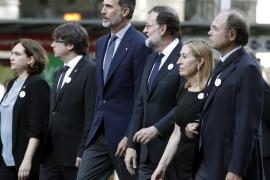 Manifestación en contra del terrorismo en Barcelona