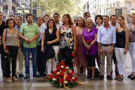 Las instituciones llevan a Barcelona el apoyo de Balears contra el terror