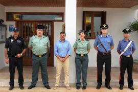 Los Carabinieri se despiden de Formentera