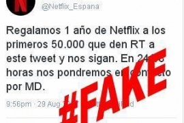 La Guardia Civil advierte en Twitter de una posible estafa sobre Netflix