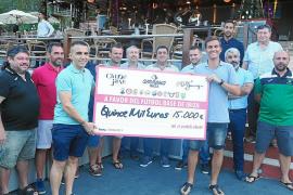 Amnesia entrega 20.000 euros a repartir entre once clubes de Ibiza
