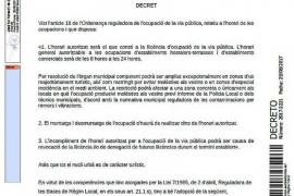 El alcalde de Sant Antoni amplía el horario de las terrazas hasta las 2 de la madrugada vía decreto