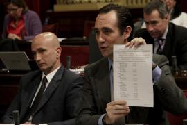Bauzá critica Antich por no presentar los presupuestos
