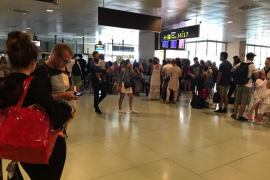 El aeropuerto de Ibiza registra una gran afluencia de pasajeros en el inicio de septiembre