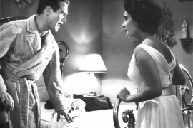Actor Paul Newman and Elizabeth Taylor are shown in this undated publicity photograph from their 1958 film Cat On A Hot Tin Roo