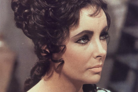 Actress Elizabeth Taylor in scene from 1963 film Cleopatra