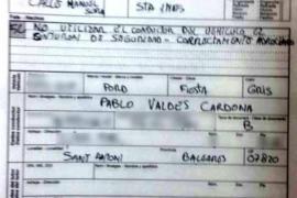 Dos multas de tráfico impuestas a Pablo Valdés no constan en la base de datos cinco meses después