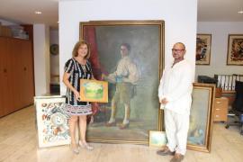 Santa Eulària recibe una donación de 129 piezas del artista Rafael Bujanda y cuatro de Amadeo Roca