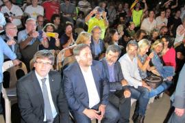 """El independentismo abre campaña pese a Rajoy y se conjura: """"Votaremos"""""""