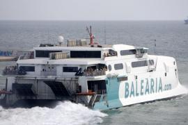 Baleària y Trasmediterranea cancelan trayectos entre Ibiza y Valencia por el mal tiempo
