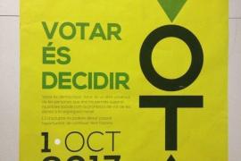 La Guardia Civil se incauta de 100.000 carteles por publicitar el referéndum o llamar a votar 'Sí'