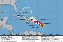 'María' toca tierra en Dominica como huracán de categoría 5