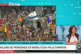 Concentración en las calles de Barcelona por los registros y detenciones
