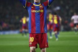 Lionel Messi celebra un gol ante el Athletic de Bilbao