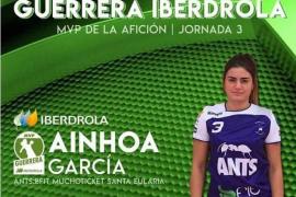 Ainhoa García, jugadora del ANTS:BFIT Muchoticket Santa Eularia, ha sido elegida 'Guerrera Iberdrola' de la jornada tercera