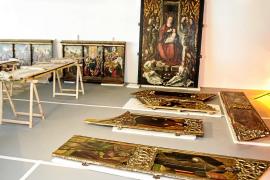 Santa Eulària califica de «desprecio» a Jesús que se lleven piezas del retablo a Vila