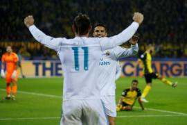 El Real Madrid conquista Dortmund con un doblete de Ronaldo y un tanto de Bale