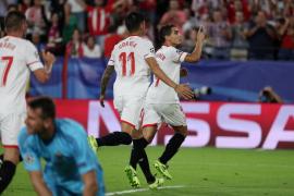 Un triplete de Ben Yedder da el primer triunfo al Sevilla ante el Maribor