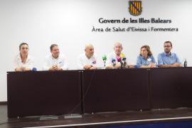 Acto de bienvenida a la nueva gerente del Área de Salud, Carmen Santos, y despedida a Josep Balanzat