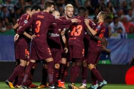 El Barça, líder tras la batalla del Alvalade