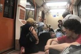 Los dos detenidos por la pelea en el metro de Madrid portaban una navaja y una pistola detonadora