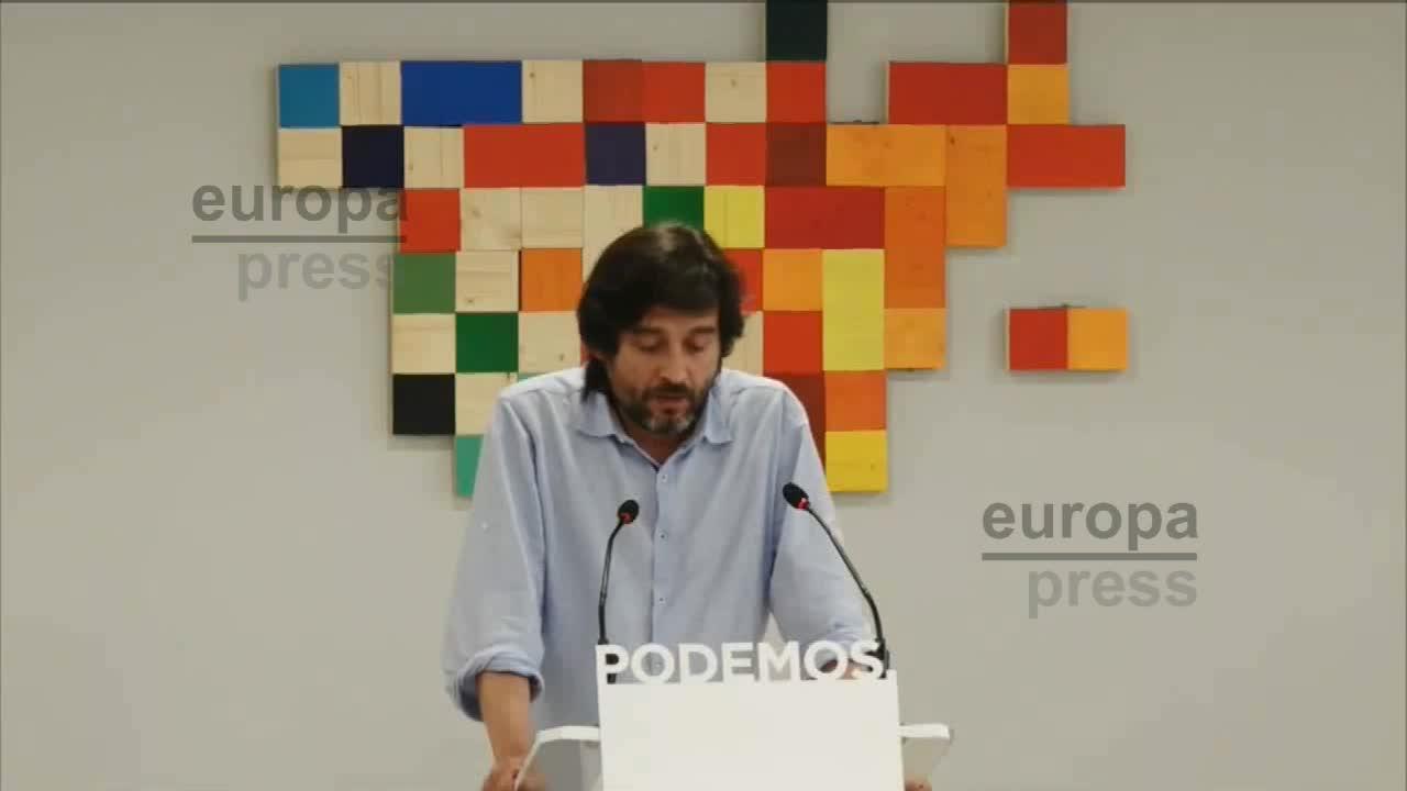 """Podemos exige al Gobierno """"el cese de la represión"""" y acusa al PSOE de darle """"carta blanca"""" con su apoyo"""