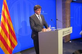 Puigdemont apoya el paro general de este martes y el Govern no se reunirá