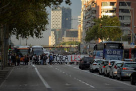Huelga general en Cataluña contra la actuación policial el 1-O