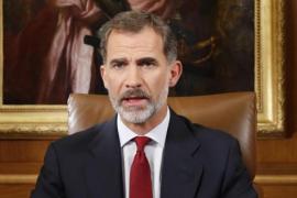 """El Rey dice que el Estado debe """"asegurar el orden constitucional"""" ante quienes quieren """"quebrar la unidad de España"""""""