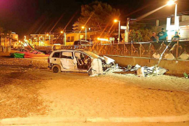 Detenido tras sufrir un aparatoso accidente con un coche robado