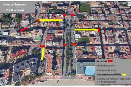 Santa Eulària restringe el tráfico este fin de semana con motivo de la jura de bandera para civiles