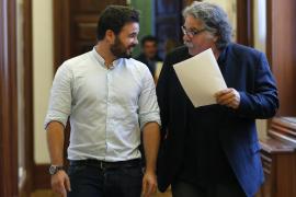 Los portavoces de ERC, Joan Tardà y Gabriel Rufián