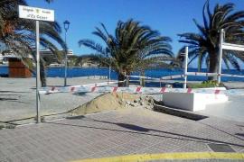 Santa Eulària trabaja en la peatonalización de la fachada marítima de Es Canar