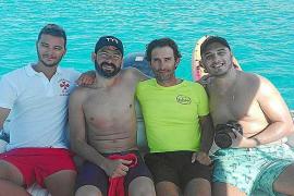 Matías Ola completa el cruce Ibiza-Formentera pero no su reto inicial