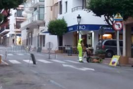 Santa Eulària inicia la segunda fase de la peatonalización de la calle Isidor Macabich
