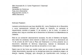 """Rajoy avisa a Puigdemont que será """"el único responsable"""" de la aplicación del 155"""