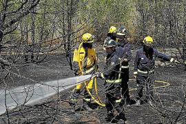 Sobresalto por un pequeño incendio en Cala d'en Serra