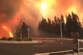 Siete incendios activos continúan sin control en Galicia