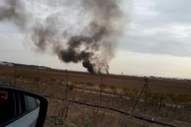 Se estrella un F-18 cerca de la base de Torrejón de Ardoz