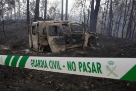 27 incendios permanecen activos en Galicia y 21 en nueve concejos del suroccidente de Asturias