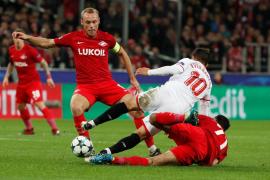 El Sevilla se queda frío en Moscú y cae goleado por el Spartak