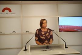 """Forcadell asegura que el Parlament no hará ni un paso atrás pese al """"golpe de Estado"""""""