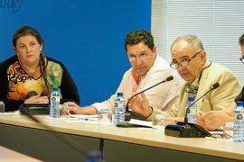 Un instante del pleno ordinario celebrado ayer en el Ayuntamiento de Sant Antoni.