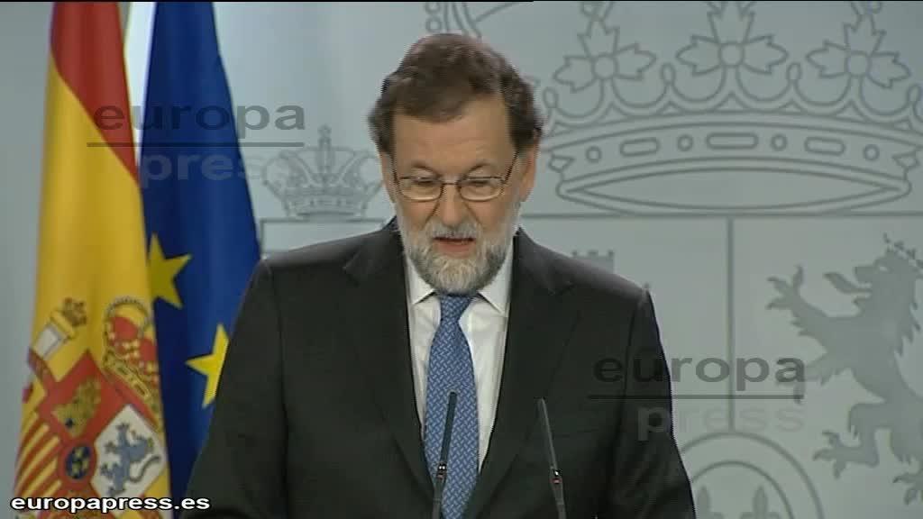 Rajoy destituye al Gobierno catalán y convoca elecciones autonómicas el 21 de diciembre